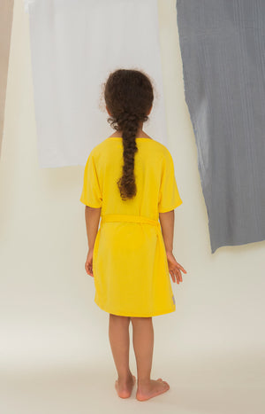 Sinisimpukka kid's dress sunshine yellow - Dresses - TAUKO - TAUKODESIGN