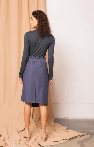 Soil skirt melange estate blue
