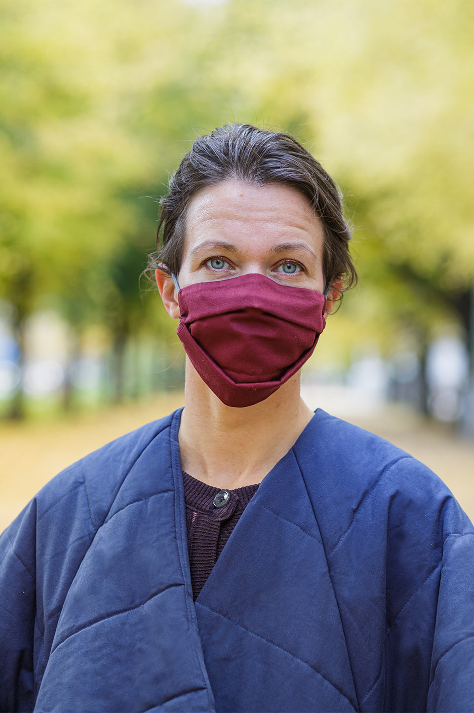 Wave face mask cabernet red with a bag - Accessories - TAUKO - TAUKODESIGN