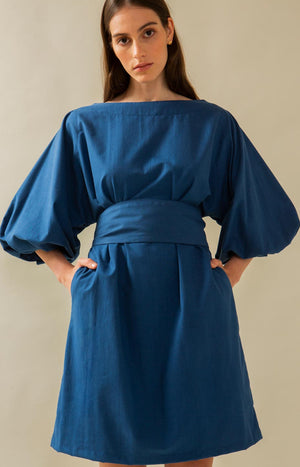 Aurelia dress dark blue - Dresses - TAUKO - TAUKODESIGN
