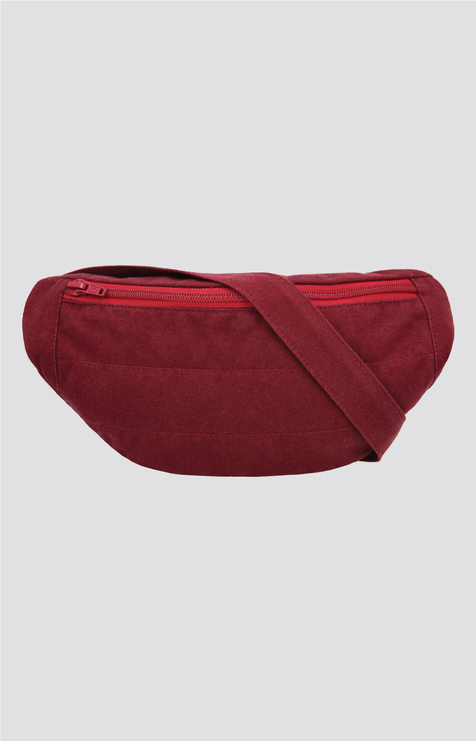 Ring belt bag cabernet red