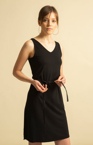Canvas Dress Black - Dresses - TAUKO - TAUKODESIGN