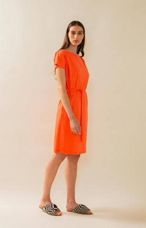 Crag dress hot coral - Dresses - TAUKO - TAUKODESIGN