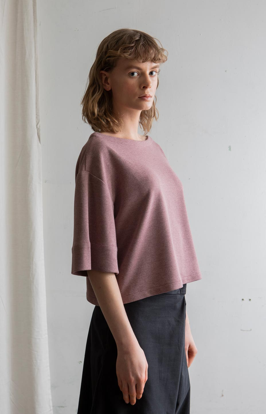 AW20 Ease shirt old rose - Tops - TAUKO - TAUKODESIGN