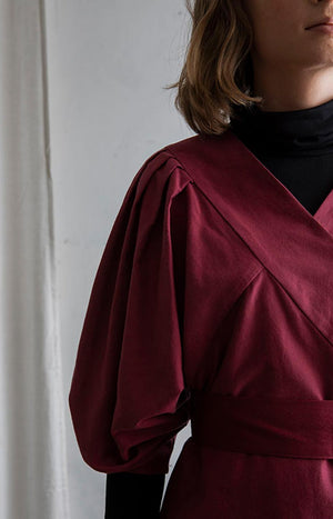 Feel blouse cabernet red