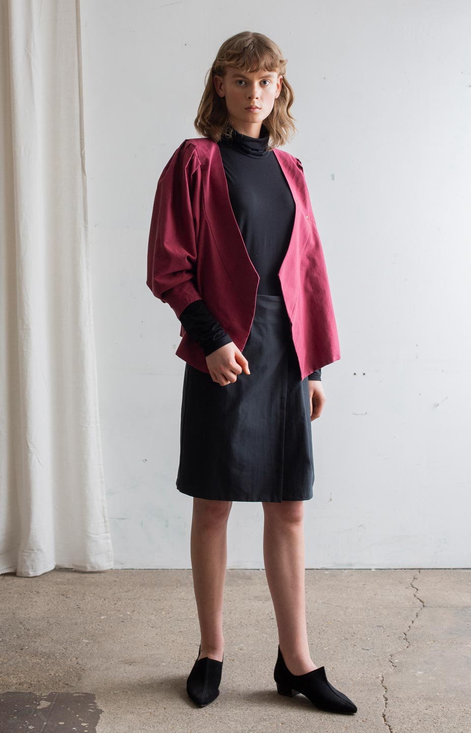 AW20 Feel blouse cabernet red - Tops - TAUKO - TAUKODESIGN