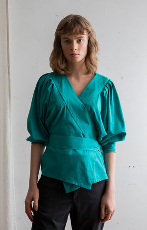 AW20 Feel blouse parasailing blue - Tops - TAUKO - TAUKODESIGN