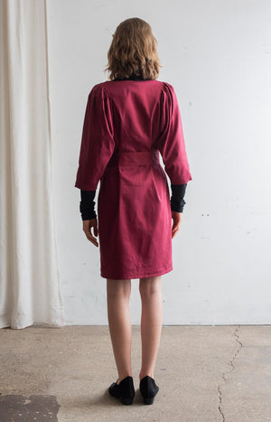 Feel dress cabernet red