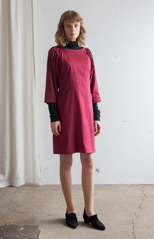 AW20 Feel dress cabernet red - Dresses - TAUKO - TAUKODESIGN