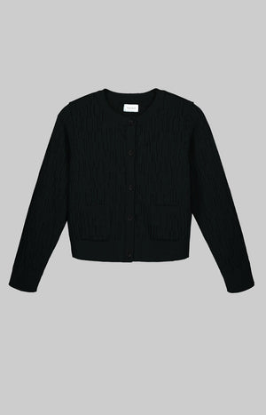 Horizon wool cardigan black