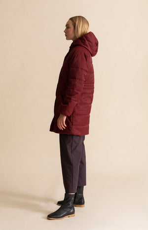 AW20 Hug coat cabernet red - Jackets & Coats - TAUKO - TAUKODESIGN