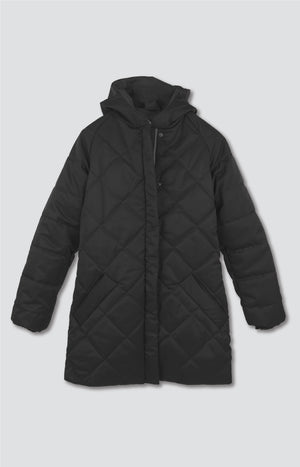 Hug coat coal black