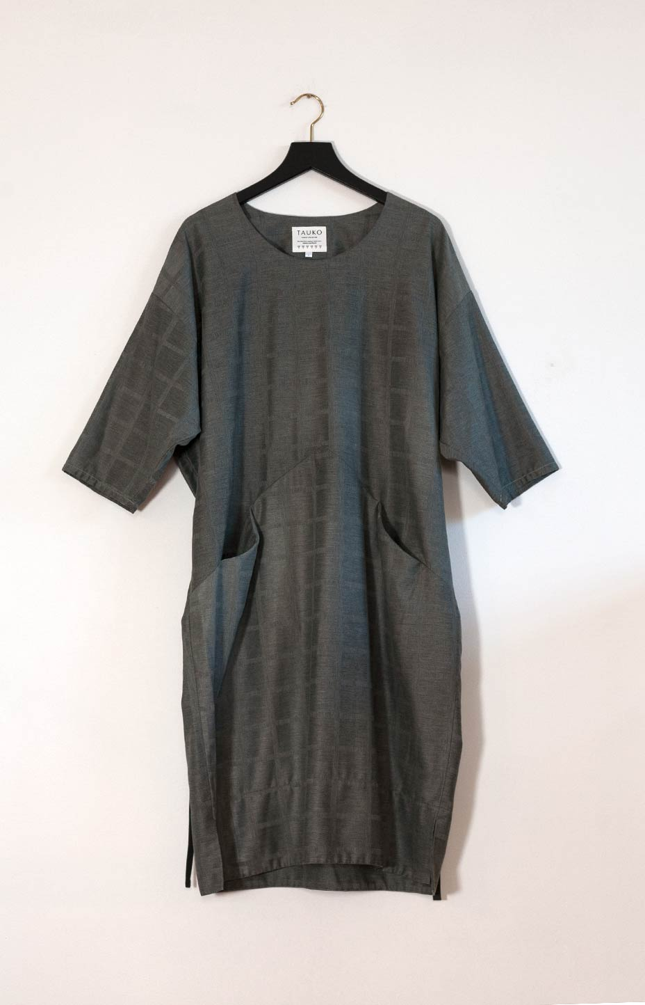 Kinship Kulma dress greyish green L