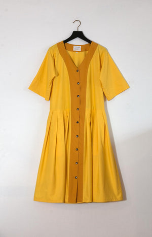 Kinship Summer dress sunshine yellow M - - TAUKO - TAUKODESIGN