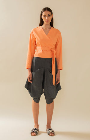 Leijat! Capri Pants Grey - Bottoms - TAUKO - TAUKODESIGN