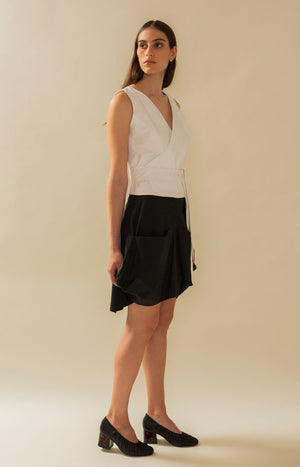 Minileija Skirt Coal Black - Bottoms - TAUKO - TAUKODESIGN