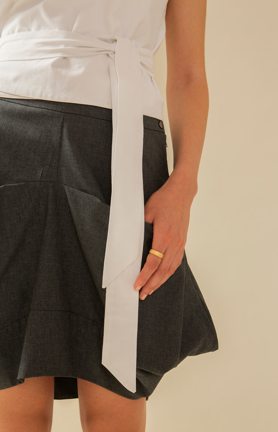 Minileija Skirt Grey - Bottoms - TAUKO - TAUKODESIGN
