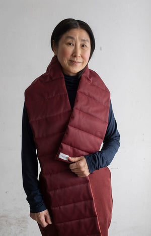 AW20 Moraine scarf cabernet red - Accessories - TAUKO - TAUKODESIGN