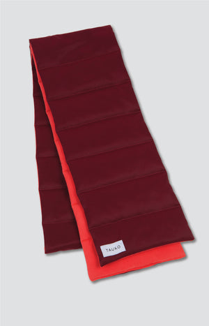Moraine scarf cabernet red