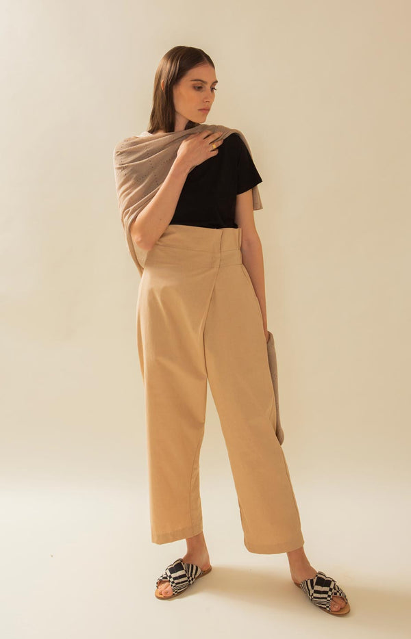 Mussel trousers cuban sand - Bottoms - TAUKO - TAUKODESIGN