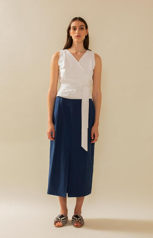 Mya skirt dark blue - Bottoms - TAUKO - TAUKODESIGN