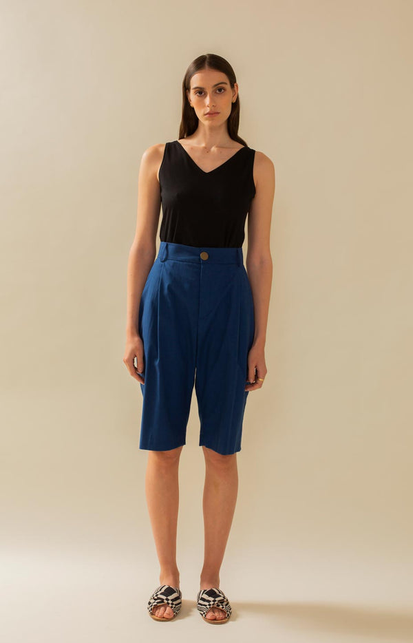 Mya shorts dark blue - Bottoms - TAUKO - TAUKODESIGN