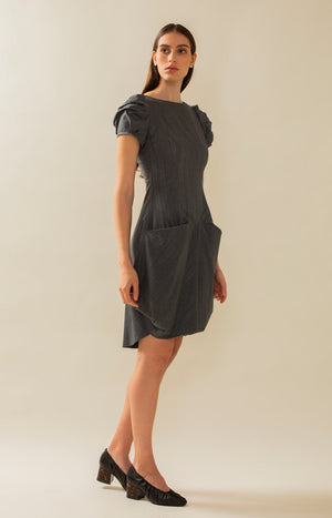 PicnicLeija Dress Grey - Dresses - TAUKO - TAUKODESIGN