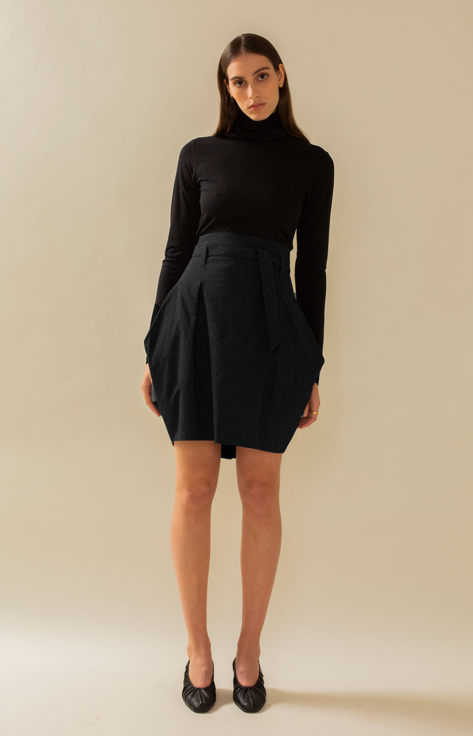 Radalla Tulip Skirt Coal Black - Bottoms - TAUKO - TAUKODESIGN