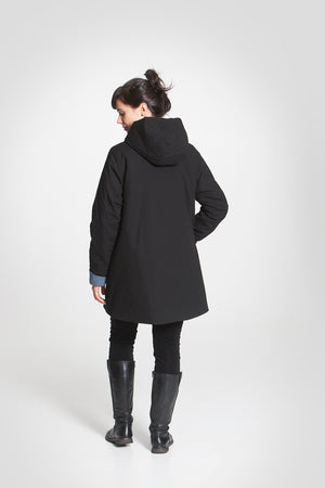 Kinship Radalla winter jacket coal black S/M - - TAUKO - TAUKODESIGN