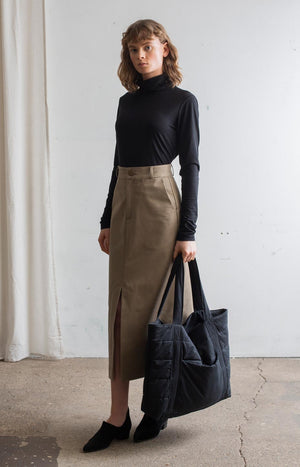 AW20 Sense skirt khaki - Bottoms - TAUKO - TAUKODESIGN