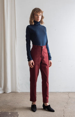 AW20 Sense trousers cabernet red - Bottoms - TAUKO - TAUKODESIGN