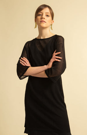 Tile Dress Black - Dresses - TAUKO - TAUKODESIGN