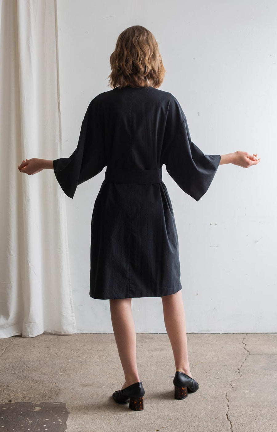 AW20 Touch dresscoat coal black - Dresses - TAUKO - TAUKODESIGN
