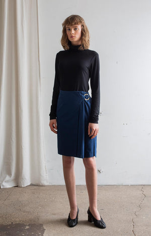 Touch skirt marine blue - Bottoms - TAUKO - TAUKODESIGN