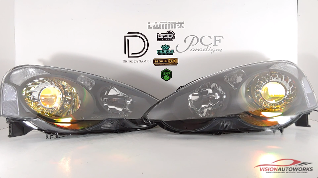 Acura RSX (02-04), Diode Dynamics Demon Eyes, Turbine, Clear Reflectors