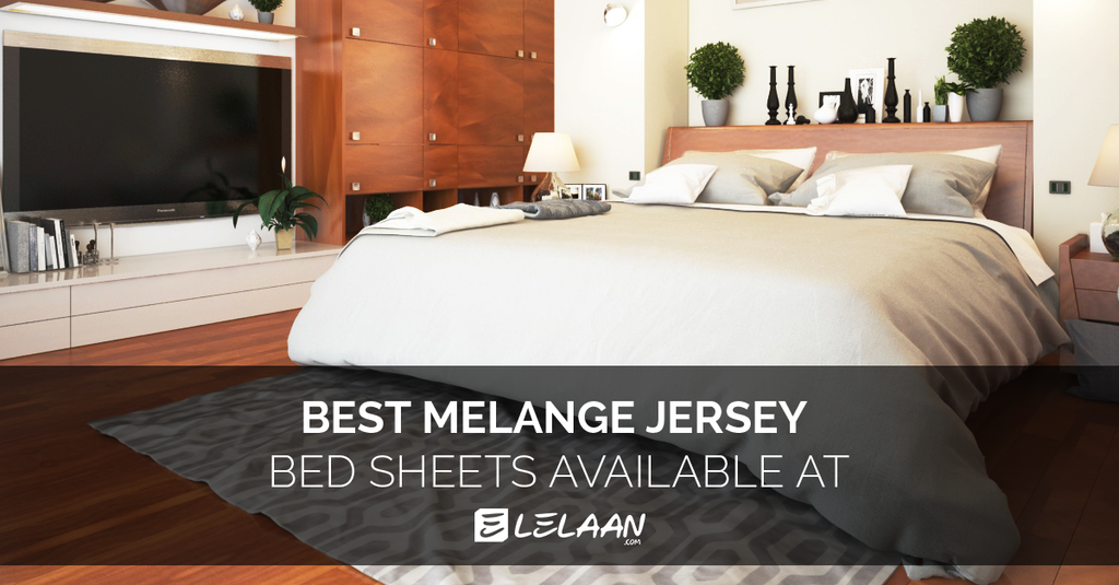 Cotton Melange Jersey Sheets In Best Colors For Decorate Your Bedroom