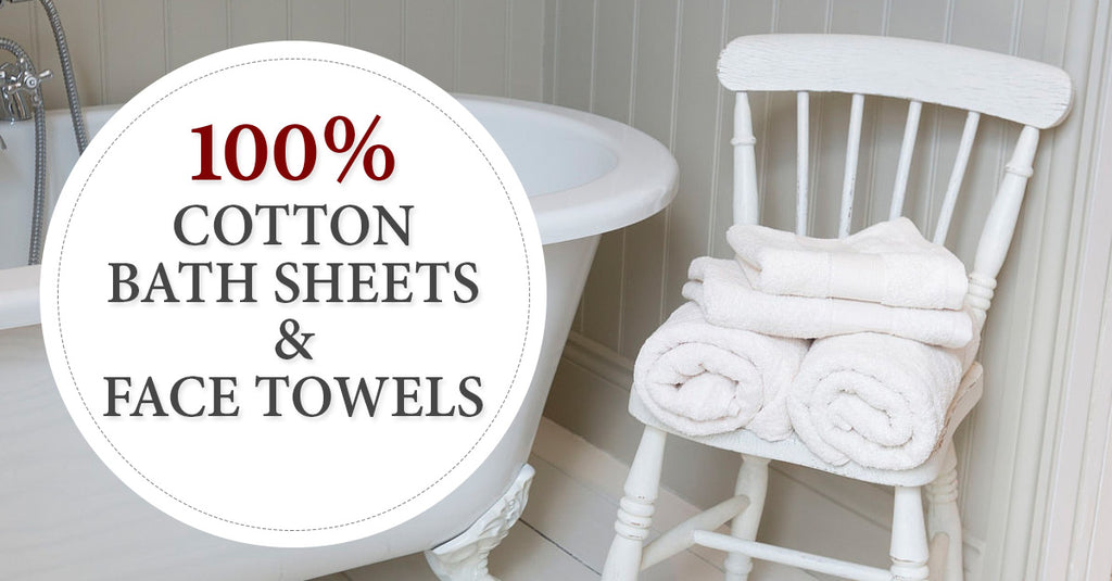 Shop 100% Cotton Bath Sheets And Face Towels