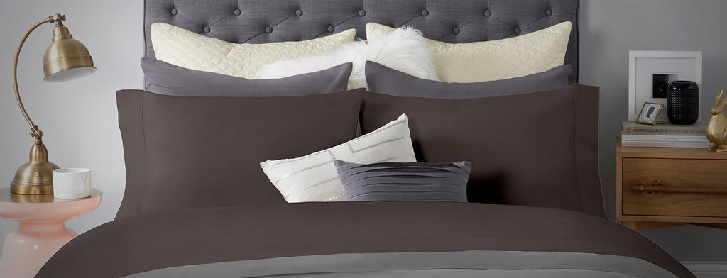 Sateen Bed Sheet In Iron Color