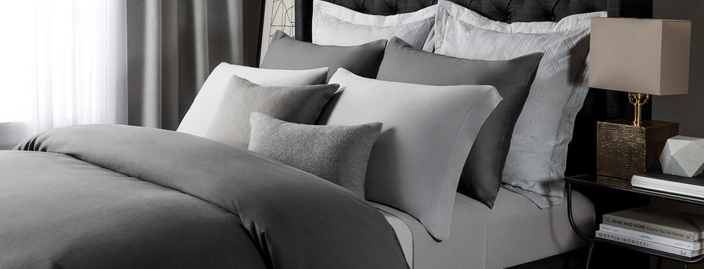 Modal Bed Sheets In Gray Color