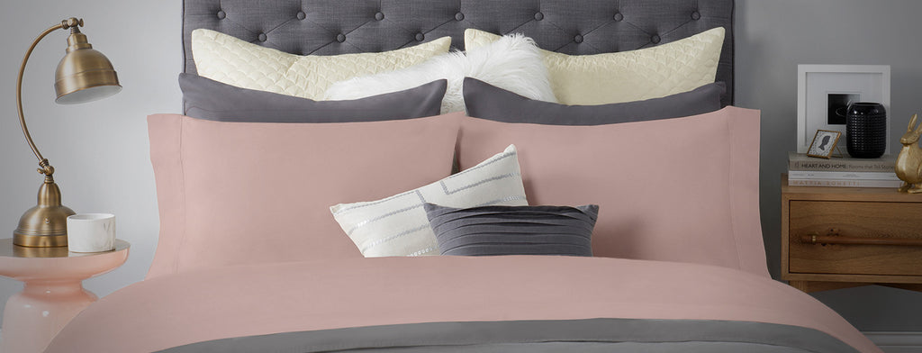 Sateen Bed Sheet In Peach Color