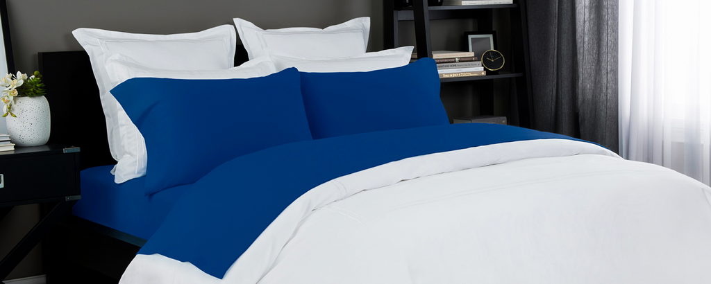 Jersey Sheet Set in Cobalt Blue