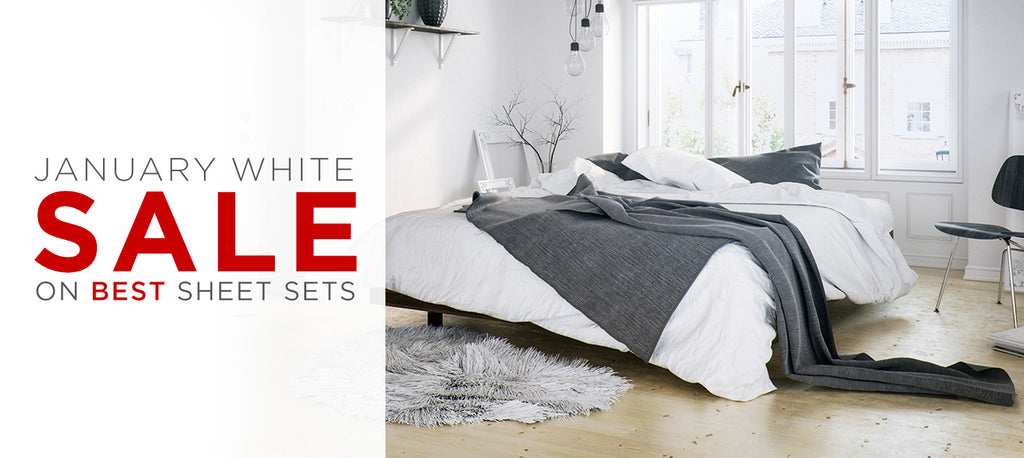 January White Sale On Luxury Sheet Sets