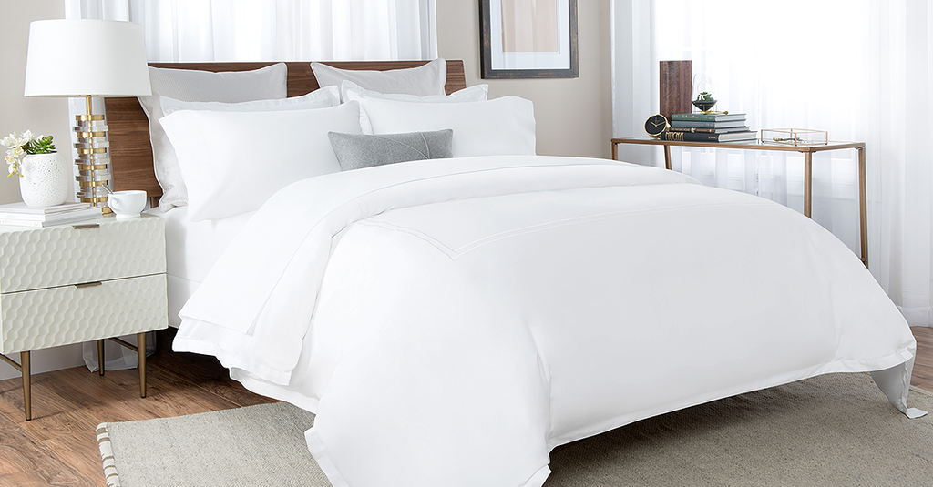 Percale Bed Sheet In White Color