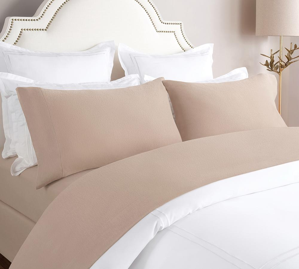 Solid Flannel Sheet Set In Taupe   Flannel Sheet Sets Online, Best Price On  Flannel ...