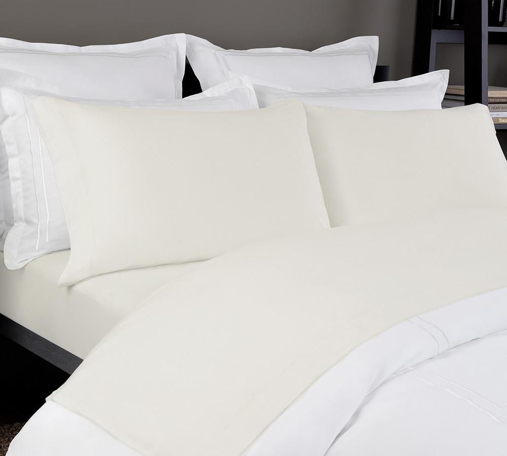 Jersey Sheet Set In Ivory, Jersey Sheet Sets Online, Best Jersey Sheet  Sets,; Solid Jersey Bed ...