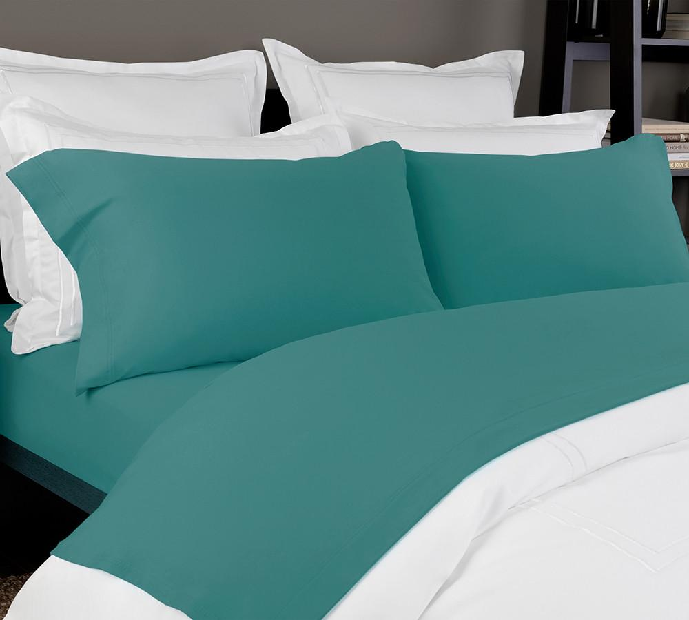 Solid Jersey Sheet Set In Teal
