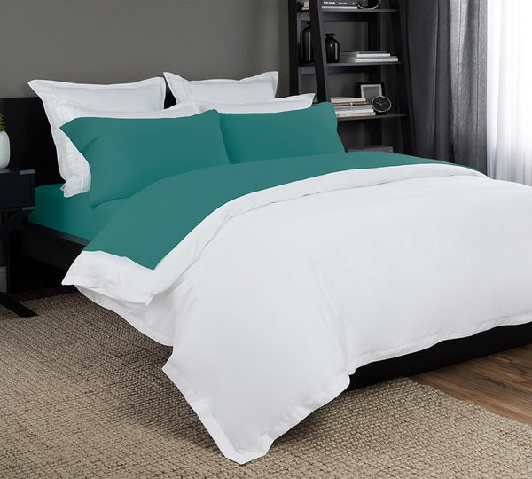 424310be60 Say Goodbye to Sleepless Nights - Shop Jersey Knit Sheet In Teal Color -  Lelaan
