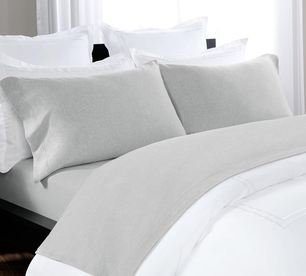 Comfy, Organic Cotton Melange Sheet, Gorgeously Woven, T Shirt Soft Fitted  Heathered Jersey Sheet