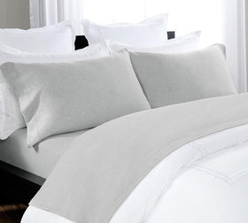 Heathered Jersey Sheet Set In Grey   Buy Melange Sheet Sets Online, Best  Melange Sheet