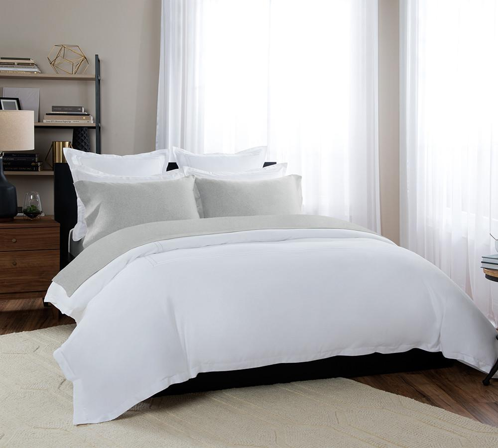 ... Heathered Jersey Sheet Set In Grey   Buy Melange Sheet Sets Online,  Best Melange Sheet ...